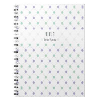 Customizable Project Notebook: Mint & Lilac Argyle