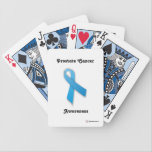 "Customizable Prostate Cancer Bicycle Cards<br><div class=""desc"">Profits from the sale of our products goes to our Cancer Services Fund. This fund helps low income patients and their families receive services such as: in-home health care,  transportation,  cleaning and meal preparation services.</div>"