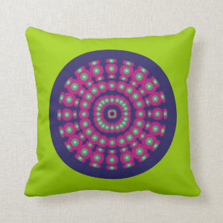 Customizable Psychedelic Spheres Dartboard Throw Pillow