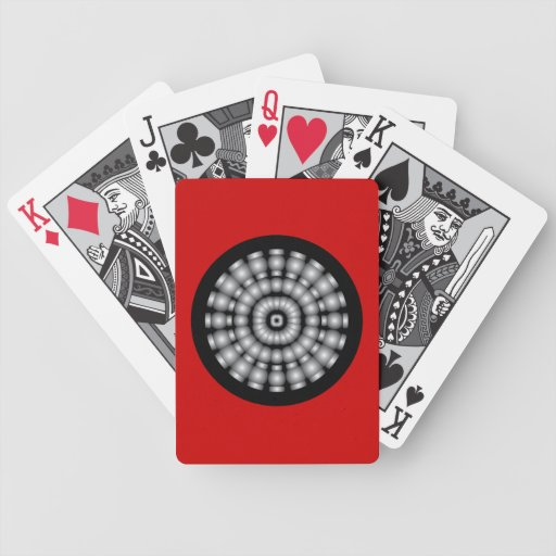 Customizable Psychedelic Spheres Dartboard Poker Cards