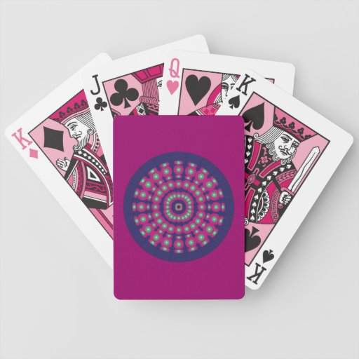 Customizable Psychedelic Spheres Dartboard Deck Of Cards