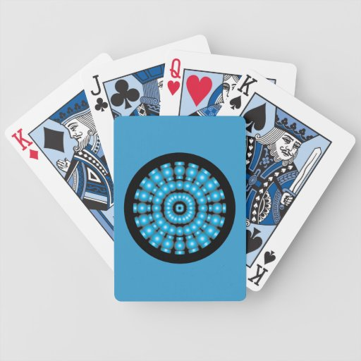 Customizable Psychedelic Spheres Dartboard Bicycle Card Decks