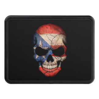 Customizable Puerto Rican Flag Skull Tow Hitch Cover