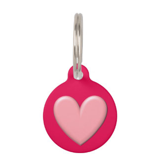 Customizable Puffy Heart Pet Name Tag