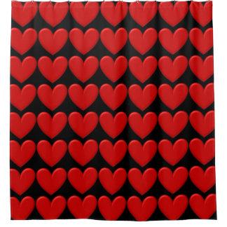 Customizable Puffy Hearts Shower Curtain
