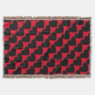 Customizable Puffy Hearts Throw Blanket