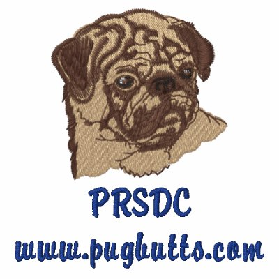 Customizable Pug Rescue Embroidered Tees Embroidered Shirt