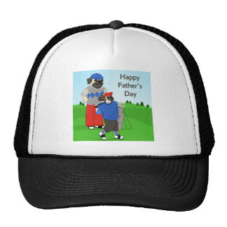 Customizable Pugs Golfing Tees, Gifts - Dad's Day Trucker Hat