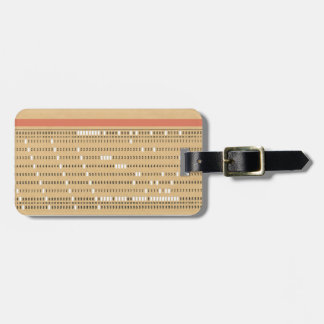 Customizable Punched Card Bag Tag