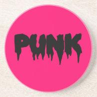 Customizable Punk Drip Font Coaster