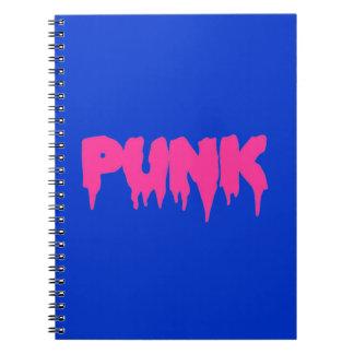 "Customizable ""Punk"" Pink Drip Font Text Notebook"