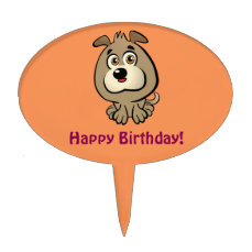 Customizable Puppy Cartoon Cake Topper