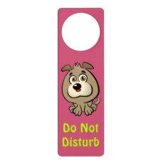 Customizable Puppy Cartoon Door Hanger