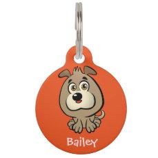 Customizable Puppy Cartoon Pet Tag