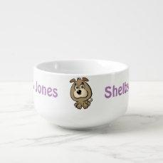 Customizable Puppy Cartoon Soup Mug