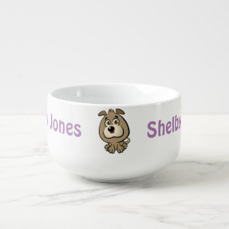 Customizable Puppy Cartoon Soup Mug