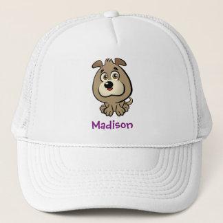 Customizable Puppy Cartoon Trucker Hat