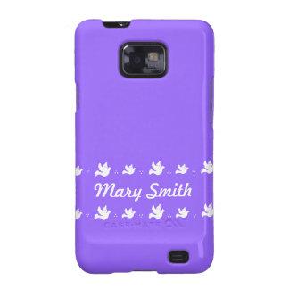 Customizable purple and white Dove design Samsung Galaxy S2 Cases