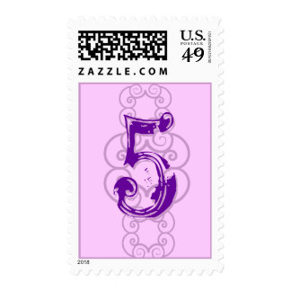 Customizable Purple Birthday Postage Stamp