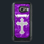 "Customizable - Purple Camo with Cross OtterBox Samsung Galaxy S7 Case<br><div class=""desc"">Purple Camouflage Pattern with Cross Design  - &quot;Customize It&quot; option available to edit text.</div>"