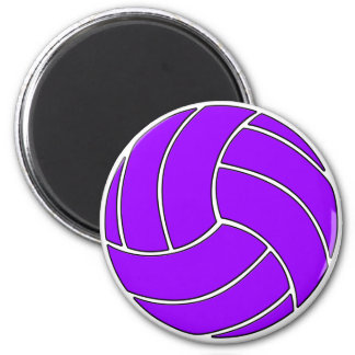 Customizable Purple Volleyball Sports Ball Magnet