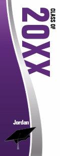9eb6d447d7153f Customizable Purple   White Graduation Flip Flops
