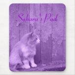 *customizable* púrpura Mousepad de Sáhara (gato) Alfombrillas De Raton
