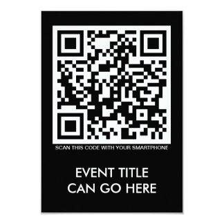 customizable QR code 3.5x5 Paper Invitation Card