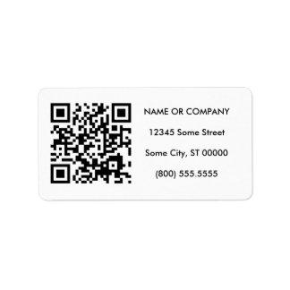customizable QR code Label