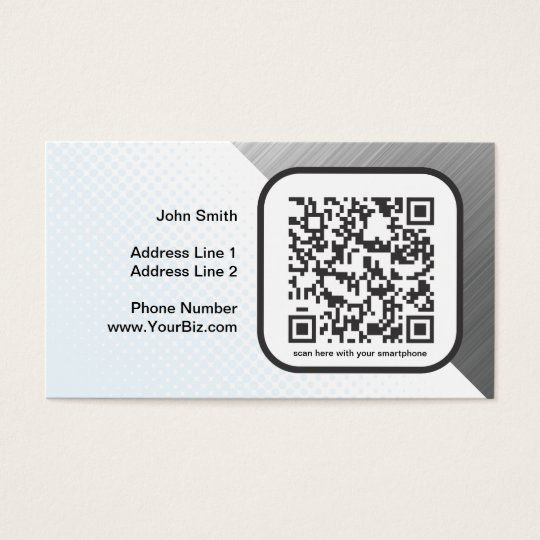 Customizable QR code marketing piece Business Card
