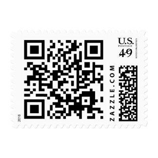 customizable QR code Postage Stamp