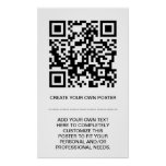 customizable QR code Poster
