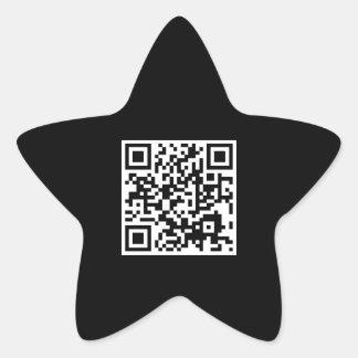 customizable QR code star Star Sticker