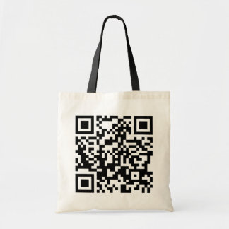customizable QR code Tote Bag