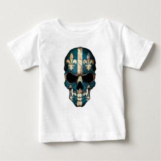 Customizable Quebec Flag Skull Baby T-Shirt