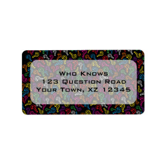 Customizable Question Marks Address Label