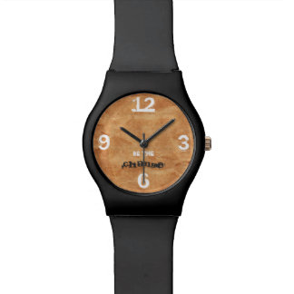 Customizable Quote & Numbers on Brown Paper Watch