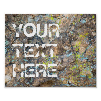 Customizable Quote on Rock | Poster