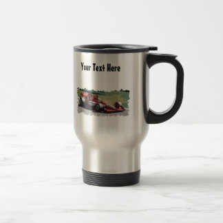 Customizable Race Car With Background Mugs