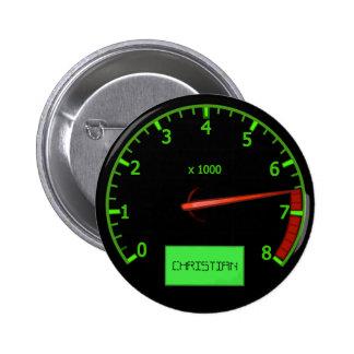 Customizable Racing car throttle name buttons
