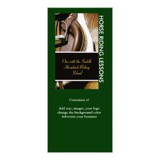 Customizable rack cards horses