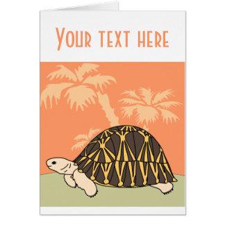 Customizable Radiated Tortoise Card 1