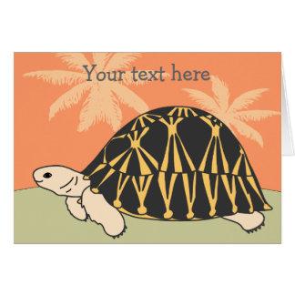 Customizable Radiated Tortoise Card 2