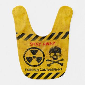 Customizable Radiation Area Warning Baby Bib