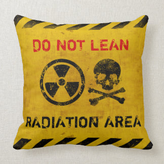 Customizable Radiation Area Warning Pillow