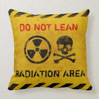 Customizable Radiation Area Warning Throw Pillow