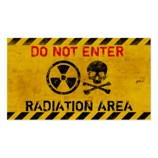 Customizable Radiation Hazard Sign Double-Sided Standard Business Cards (Pack Of 100)