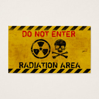 Customizable Radiation Hazard Sign Business Card