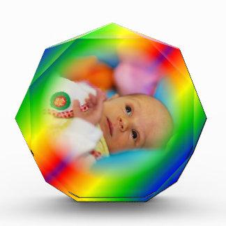 Customizable Rainbow Acrylic Photo Frame Award