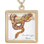 Customizable Rainbow Boa Constrictor Snake Necklac Custom Necklace